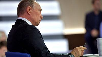 Путин о своей прямой линии: помогает почувствовать нерв