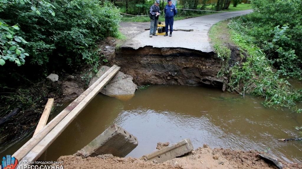 ВРузском округе Подмосковья рухнул мост