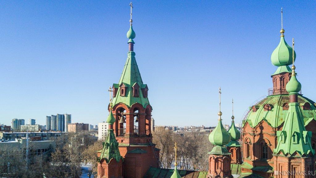 Экстремалы забрались накрышу храма вЧелябинске
