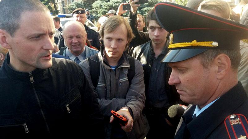 Удальцов: 30 человек задержаны нанесогласованной акции вМоскве