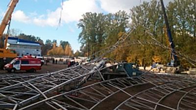 Четверо рабочих пострадали при обрушении настадионе «Кировец»