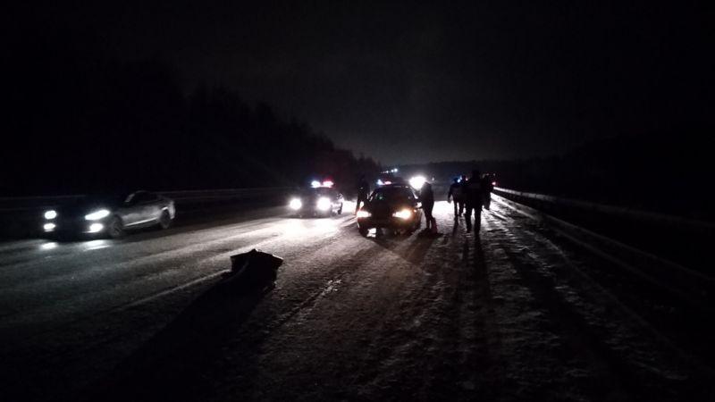 Водителя, который вышел после ДТП изавтомобиля, насмерть сбила иностранная машина