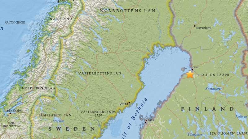 Землетрясение напугало жителей Финляндии