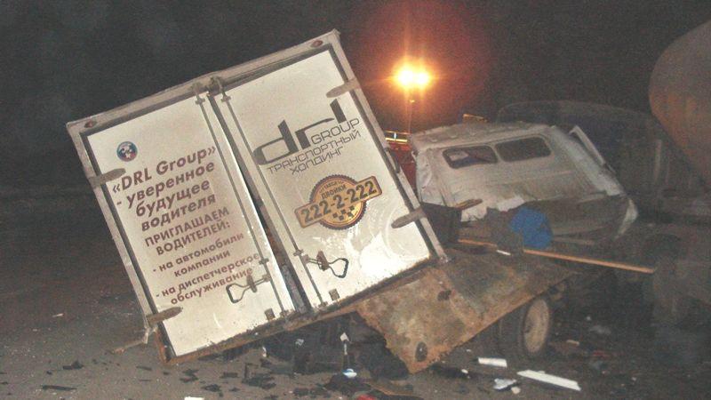 Натрассе вМагнитогорск при столкновении савтоцистерной умер шофёр «Газели»