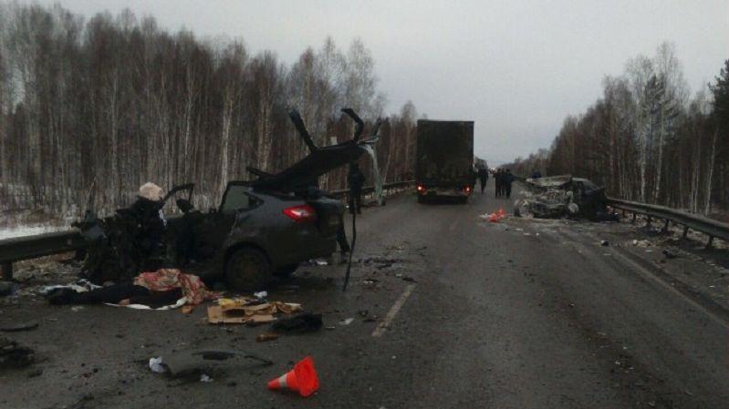 Вмассовом ДТП натрассе Екатеринбург— Тюмень погибли два человека