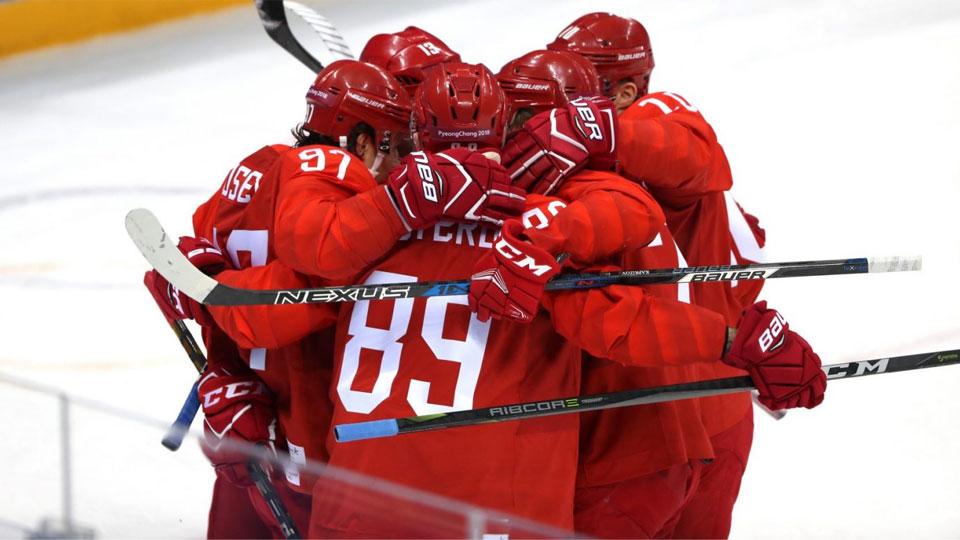 Российские хоккеисты разгромили норвежцев в четвертьфинале Олимпиады