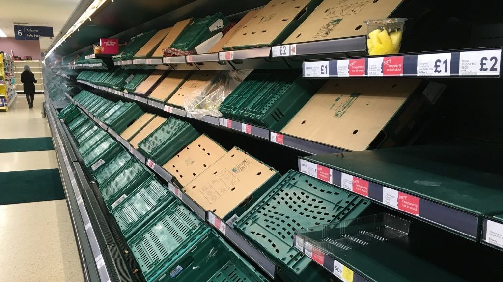 В супермаркетах Великобритании возник острый дефицит продуктов