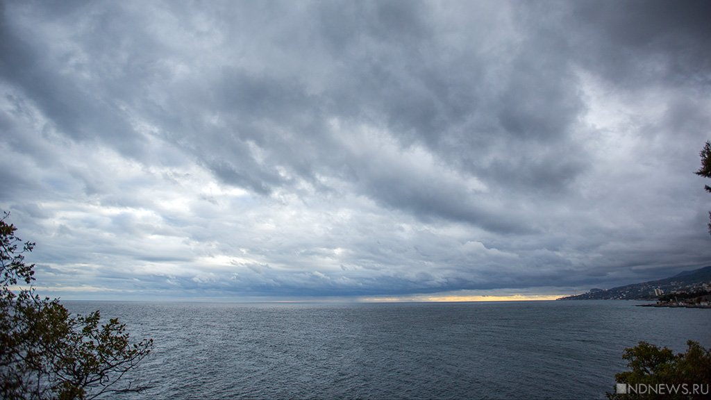 Дождь и ветер: в Крыму объявлено штормовое предупреждение.