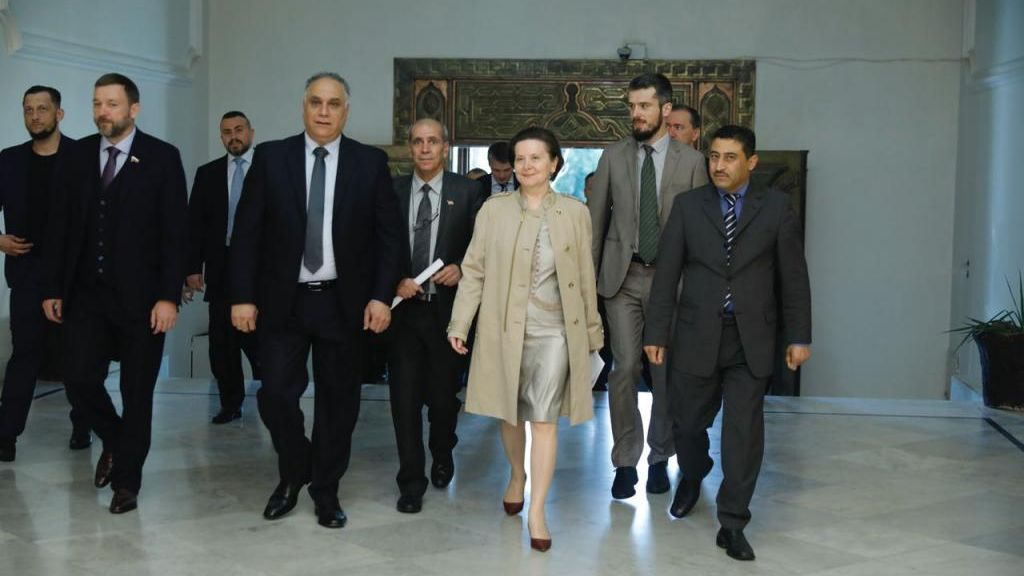 Губернатор Комарова сделала важный телефонный звонок, находясь вСирии