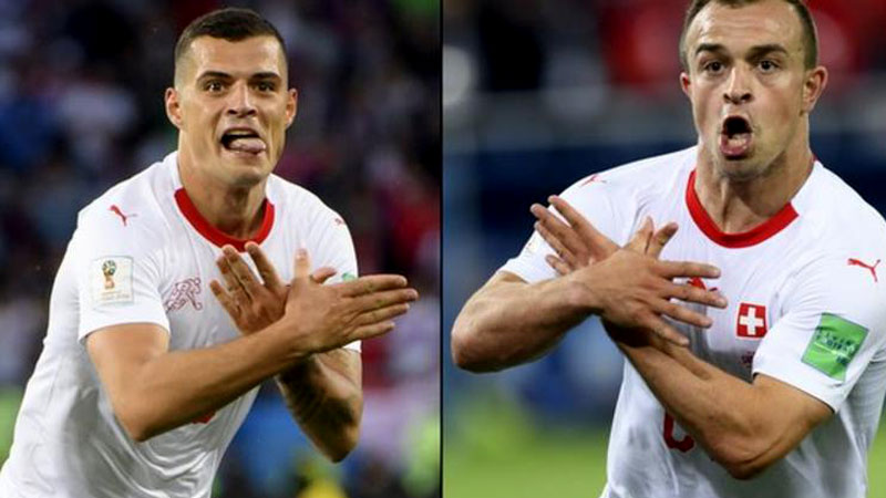 Футболисты сборной Швейцарии оказались под угрозой санкций FIFA