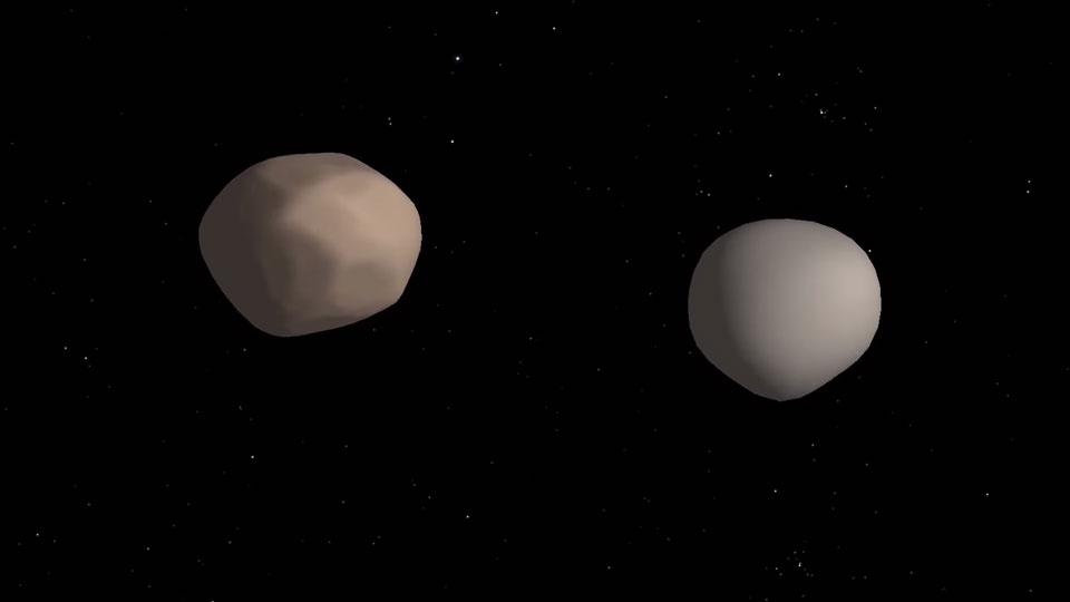 Вкосмосе обнаружена пара астероидов, вращающихся вокруг друга друга