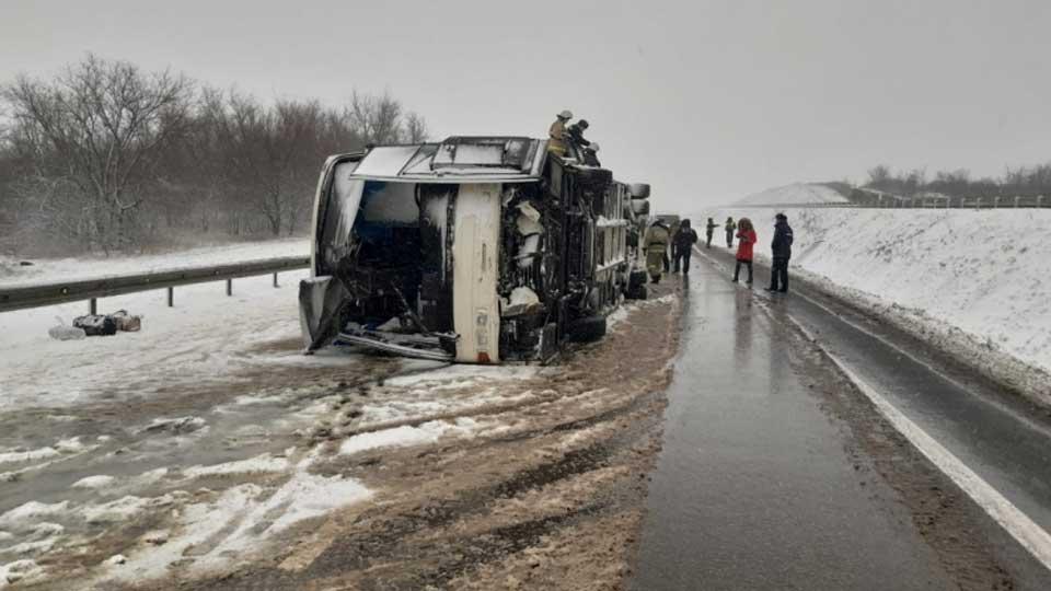 В аварии с автобусом под Воронежем пострадали 14 граждан Украины