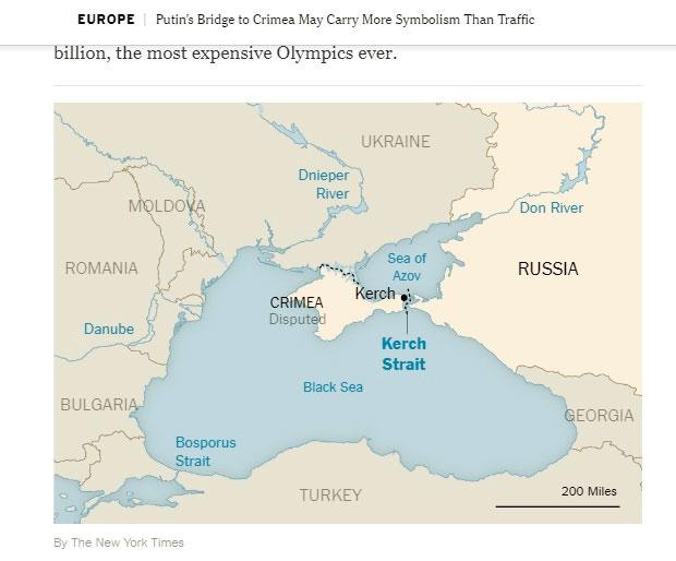 Украина возмущена публикацией вNew York Times о«спорной территории» Крыма