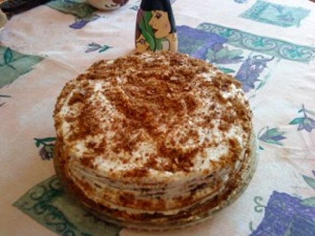 Торт с майонезом рецепт с фото