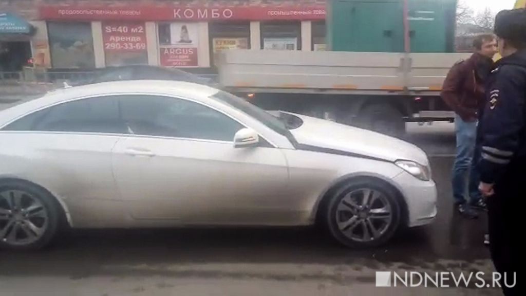 ВЕкатеринбурге неопытная автоледи на«Мерседесе» сбила школьника