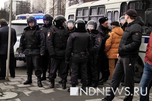 Нанезаконной акции вцентральной части Москвы задержаны неменее 500 человек