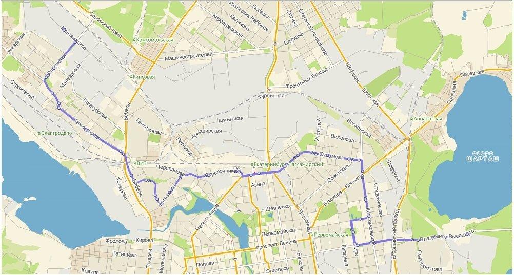 Администрация Екатеринбурга объявила аукцион наавтобусные транспортировки  потрем новым маршрутам