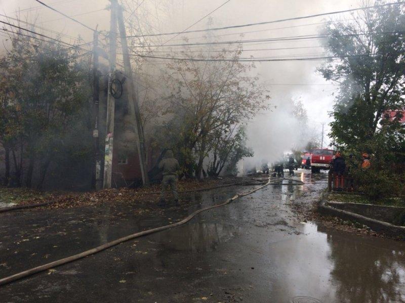 ВЕкатеринбурге из-за пожара эвакуировали постояльцев и служащих пансионата