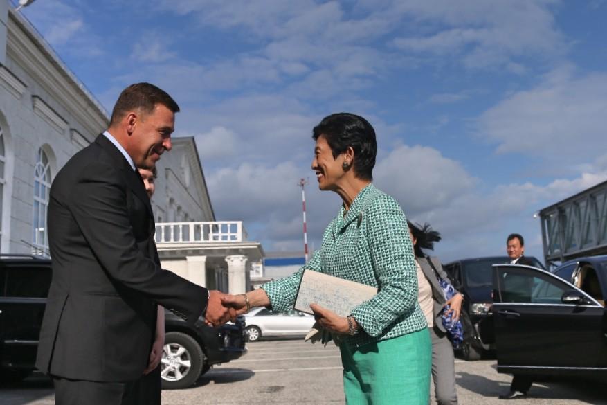 Принцесса Такамадо Хисаки прибыла в Екатеринбург поболеть за команду Японии (ФОТО)