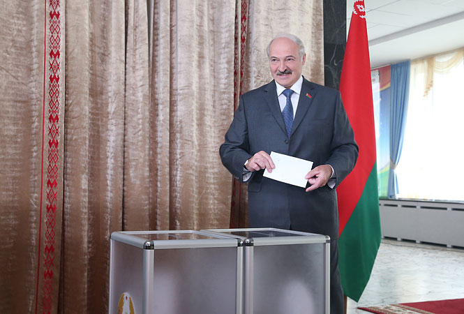 Александр Лукашенко принял участие впарламентских выборах в Белоруссии