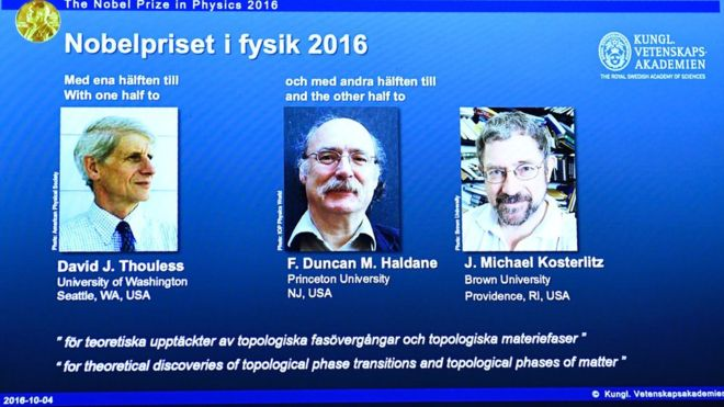 Нобелевскую премию пофизике вручили за исследование особенных состояний материи