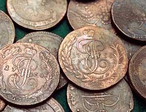 монеты 17 века фото