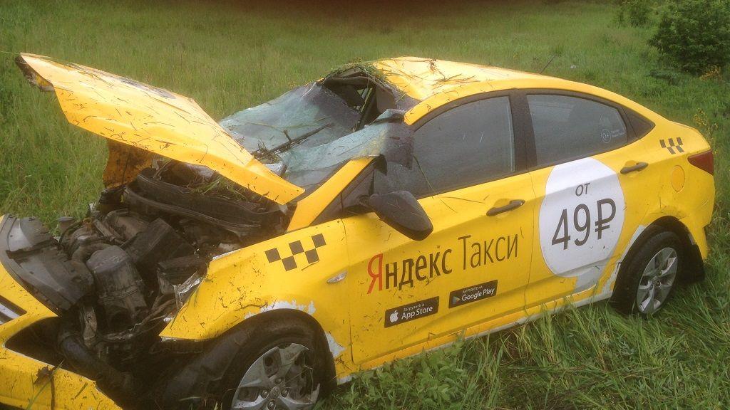 ГИБДД проверяет сервис «Яндекс.Такси», водитель которого  пьяным вылетел в кювет