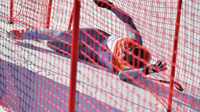 Российский горнолыжник угодил в больницу после падения на олимпийском склоне