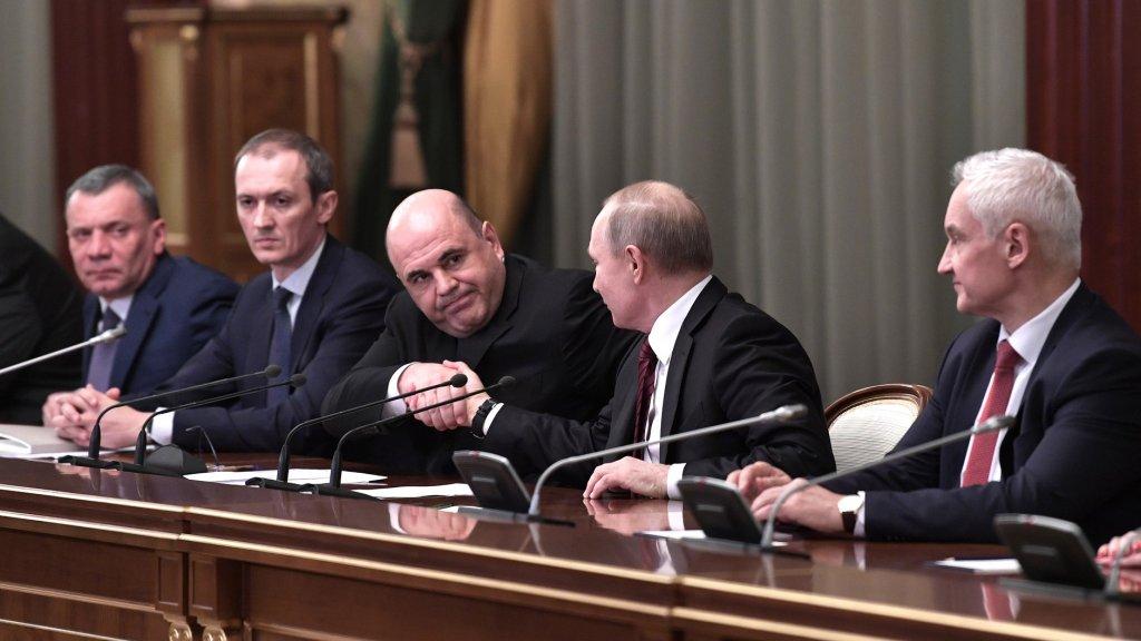Путин и Мишустин поставили задачи новому правительству / 21 января 2020 |  Политика, Новости дня 21.01.20 | © РИА Новый День